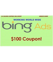 $100 Bing Ads Coupon, 100% free Value,  No need of spending